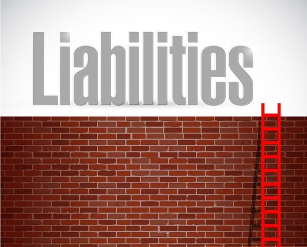 Liabilities Ladder Illustration Design Over A White Background